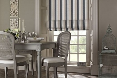 Roman blinds supplied by Kingston Blinds.